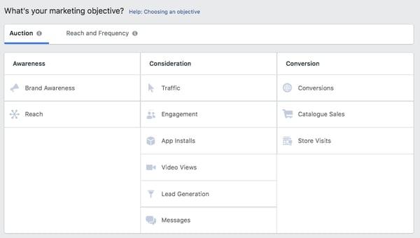 Crear-anuncios-en-Facebook-objetivo