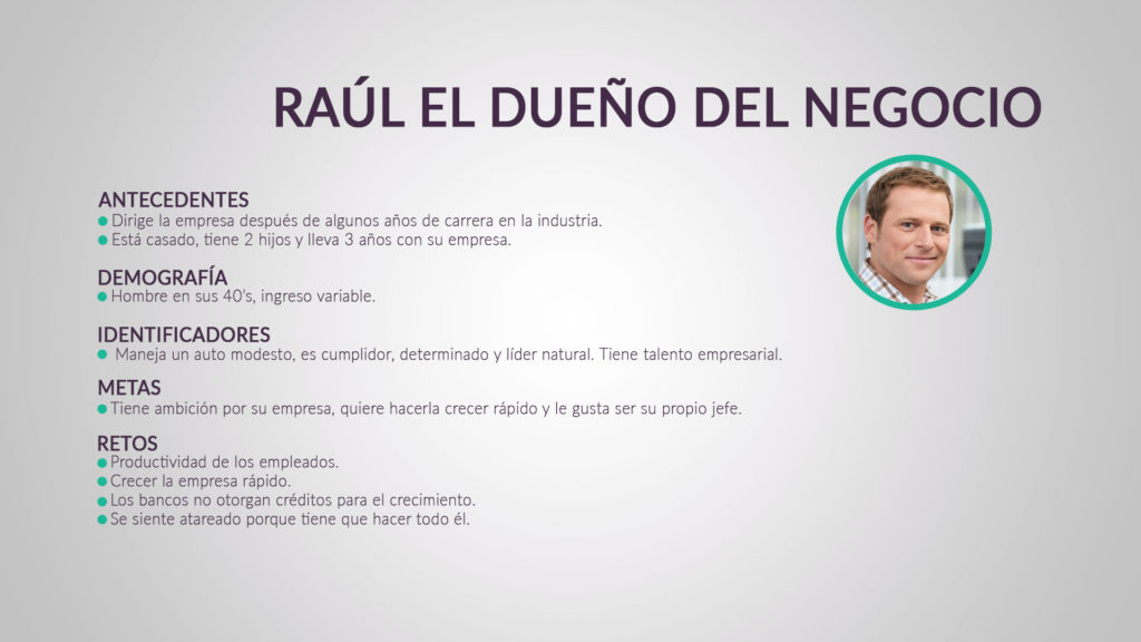 Datos de perfil de buyer persona