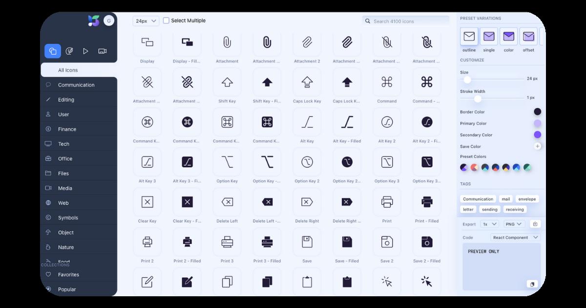 Shape iconos